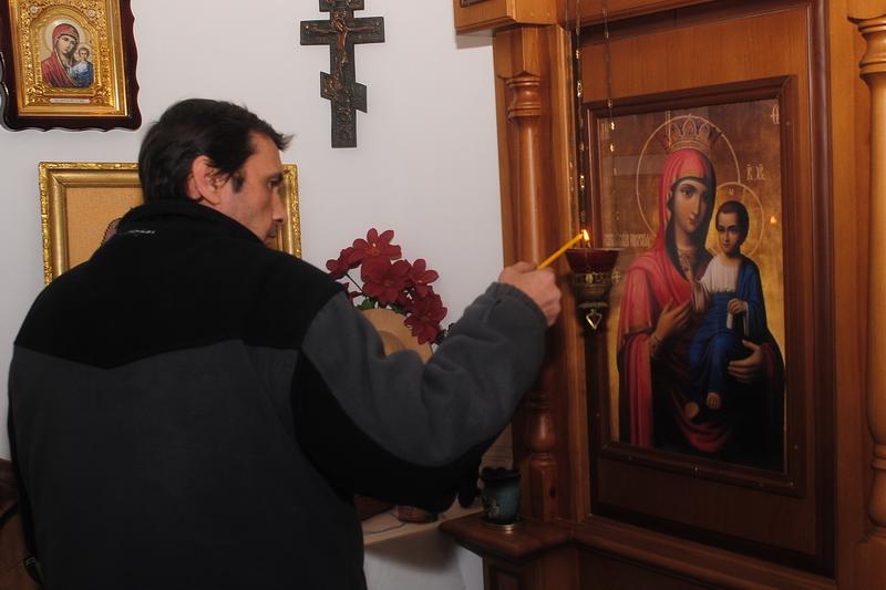 В новой часовне при Николаевском городском приюте для людей преклонного возраста состоялось первое богослужение