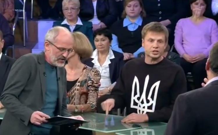 Украинский нардеп Алексей Гончаренко рассказал о войне и «сумасшедшем» Путине в прямом эфире росТВ