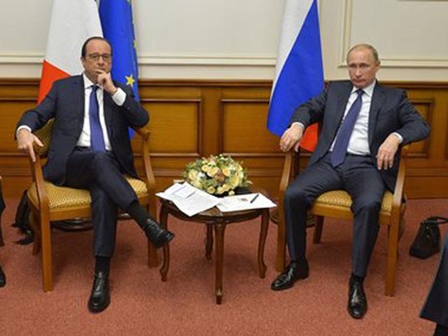 Путин после переговоров с Олландом: Россия за немедленное прекращение огня на Украине