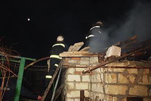 В Терновке сгорела сауна