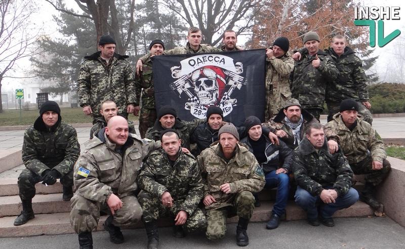 Николаевцы встретили бойцов 28-й механизированной бригады