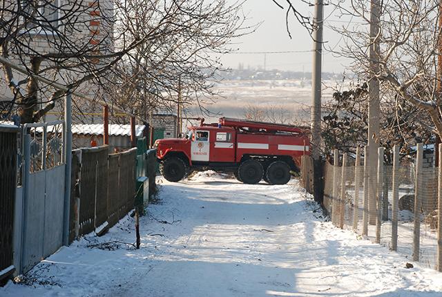 В Николаеве на Казарского горел дачный домик