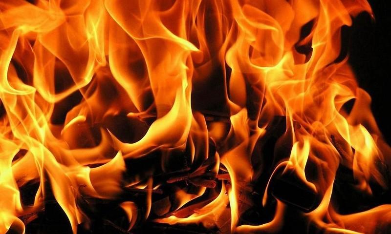 На Николаевщине спасатели потушили горящие хозпостройки, угрожавшие «поджечь» жилые дома и гараж 1