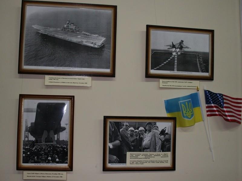 Построенные в Николаеве и Ньюпорте авианосцы «сошлись» на одной выставке