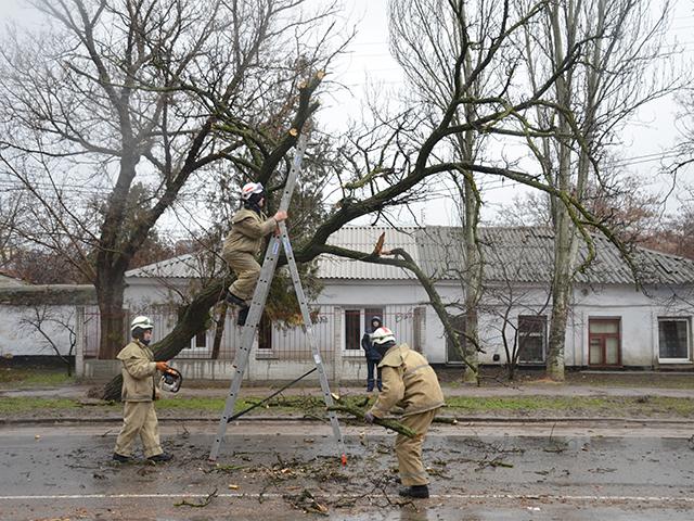 Ураган в Николаеве бушевал всю ночь и почти весь день