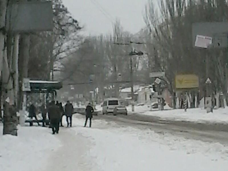 Некоторые николаевские маршрутки из-за снега изменили пути следования