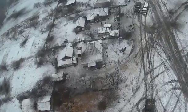В сети появилось видео из Дебальцево