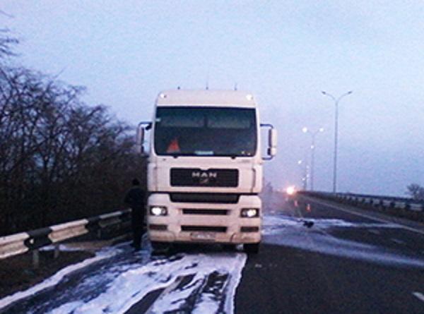 На Николаевщине загорелся грузовик