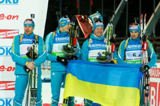 На чемпионате Европы по биатлону женская и мужская сборная Украины взяли призовые места