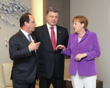 Зачем в Киев прилетели Керри, Меркель и Олланд