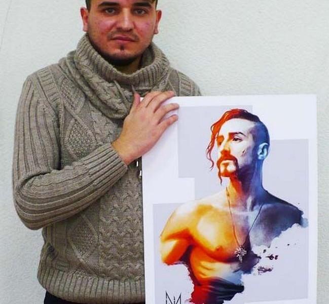 Запорожский художник создал серию открыток с украинскими героями разных эпох