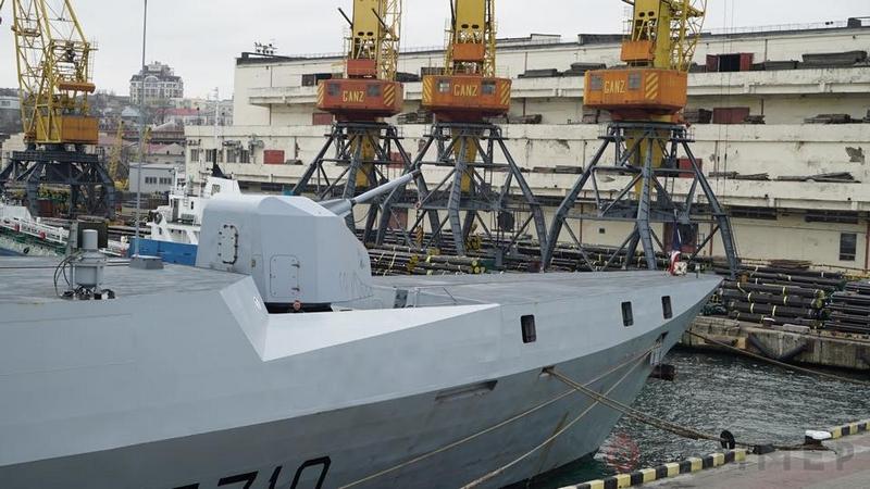 В одесском порту пришвартовался французский стелс-фрегат La Fayette