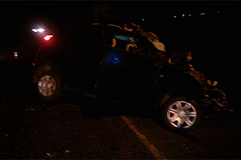 На Николаевщине «Skoda Fabia» столкнулась с рейсовым автобусом. Водитель легковушки погиб на месте