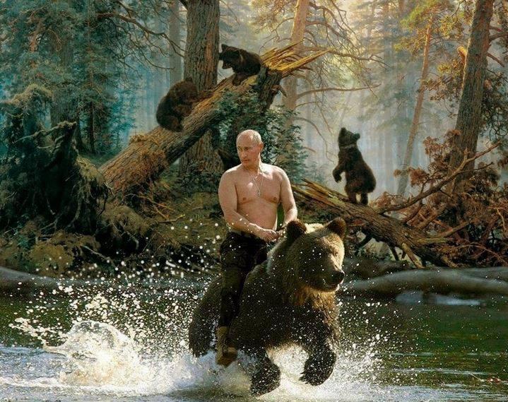 Путина показали по росТВ