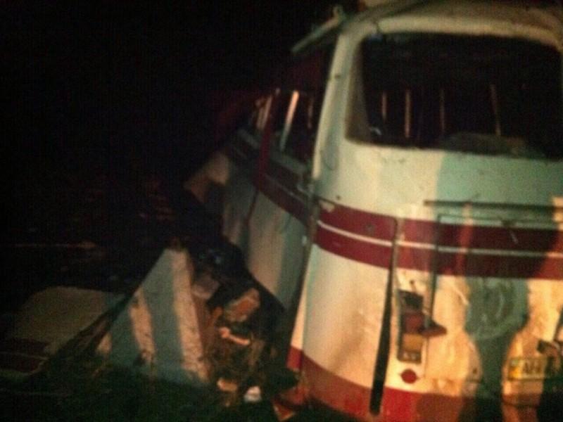 Возле Артемовска на мине подорвался пассажирский автобус. 4 погибших