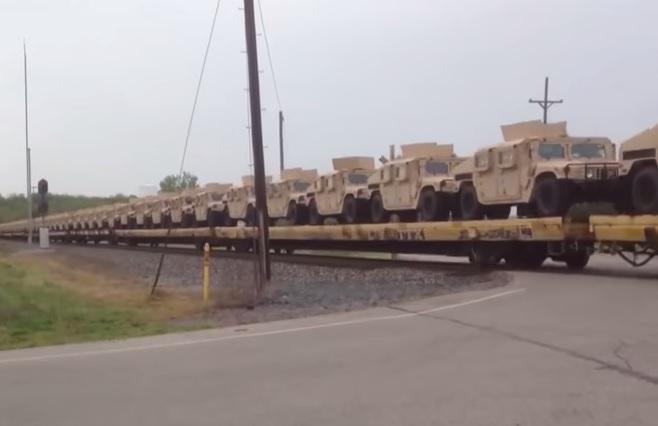 Украинские военные протестировали броневики Humvee