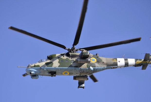 Один офицер погиб, двое пострадали при крушении вертолета Ми-24 на Киевщине