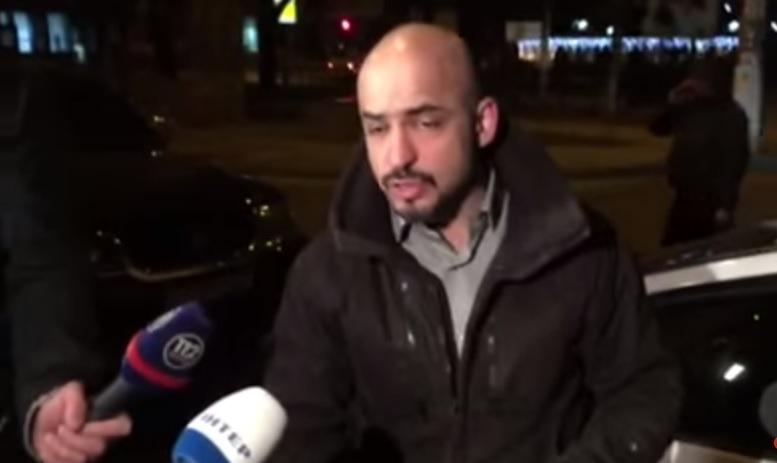 """Возле здания """"Укрнафты"""" побили нардепа Мустафу Найема"""