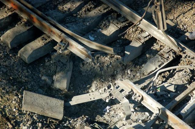 В Луганской области взорван железнодорожный путь