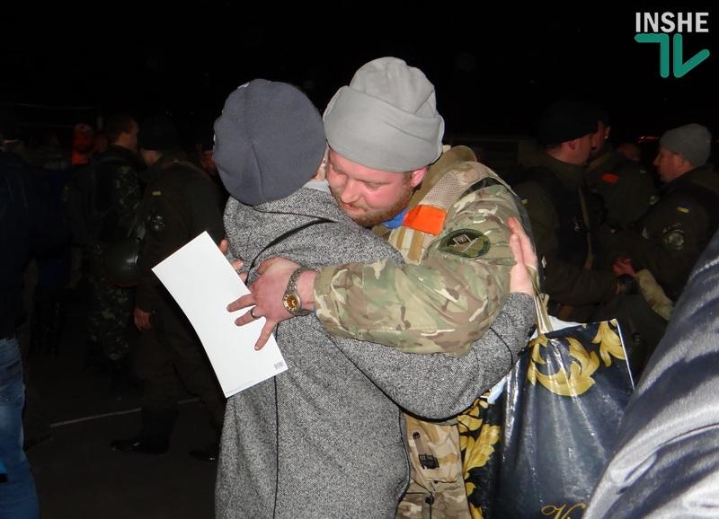 В Николаев из АТО вернулись бойцы Национальной гвардии