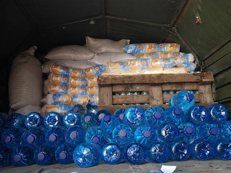 Бойцам 19-го мотопехотного батальона волонтеры доставили полтонны продуктов