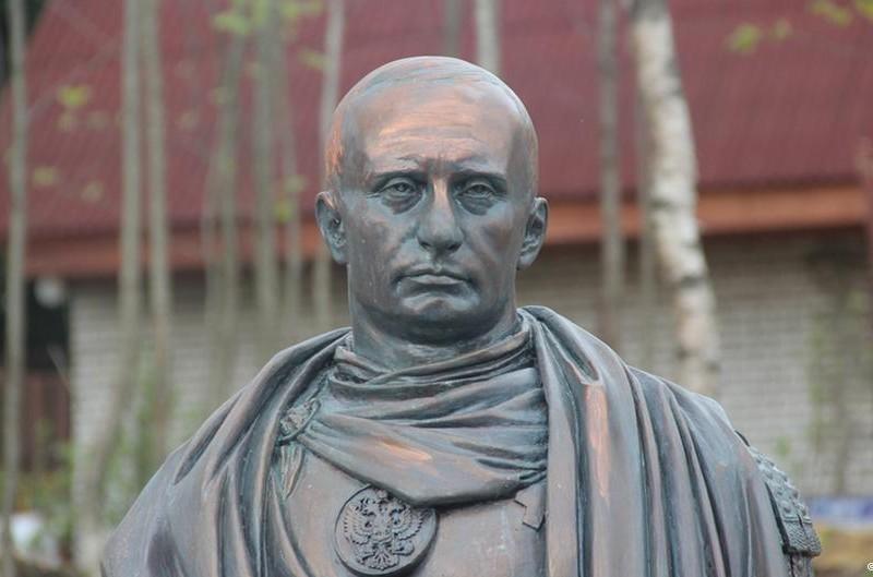 В пригороде Санкт-Петербурга установили памятник Путину – в образе римского императора