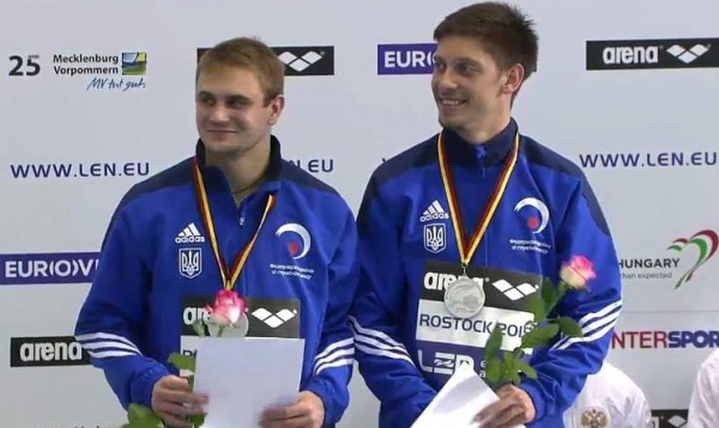 Николаевец Кваша и луганчанин Горшковозов взяли «серебро» на чемпионате Европы по прыжкам в воду