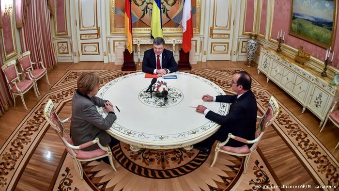 О чем Порошенко, Меркель и Олланд говорили по телефону