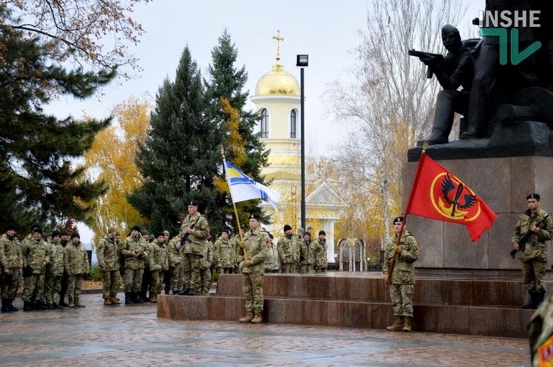 В Николаеве морская пехота приняла присягу на верность народу Украины