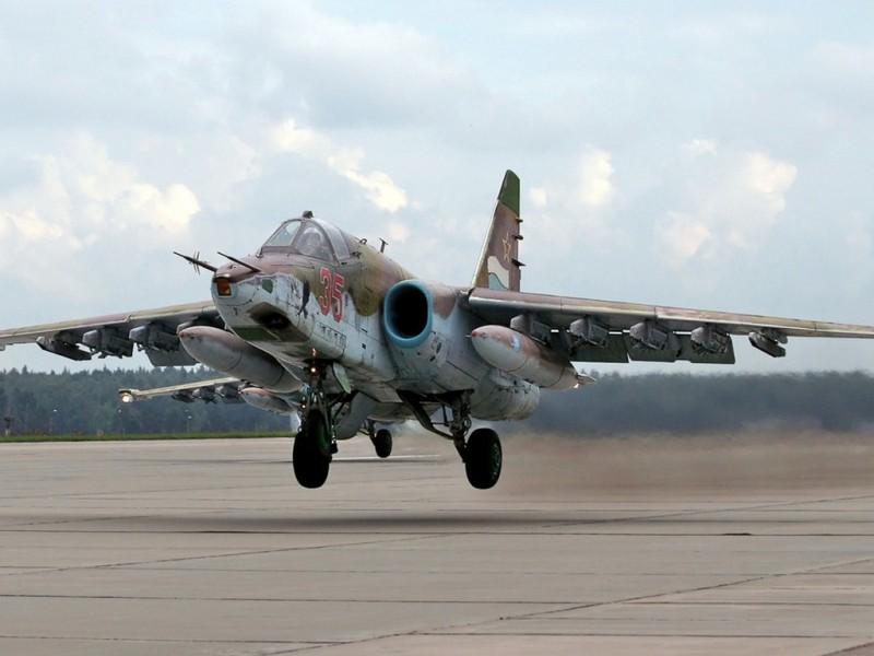 В РФ разбился штурмовик Су-25. Пилот погиб