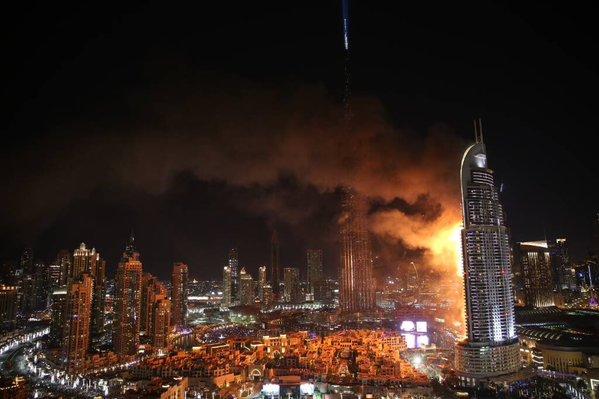 В Дубае из-за пожара в отеле-небоскребе один человек умер