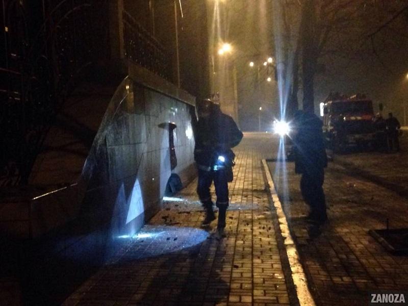 В Запорожье возле подпольного казино взорвали гранату. Полиция вынуждена была реагировать