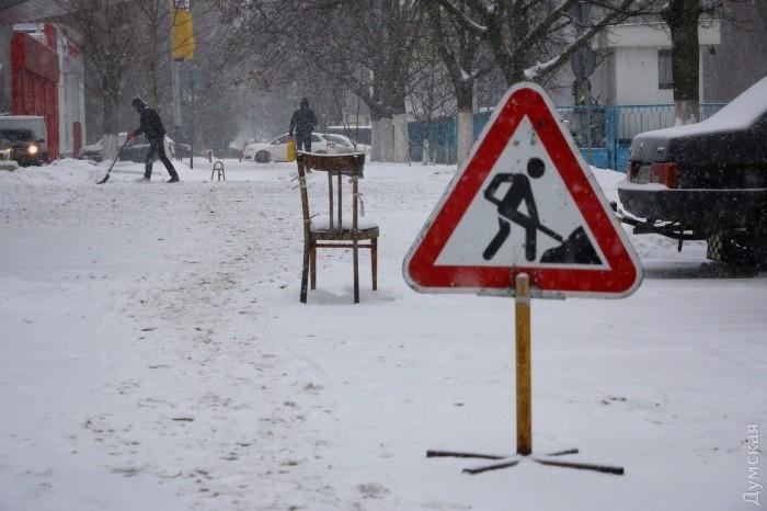 Одессу засыпает снегом