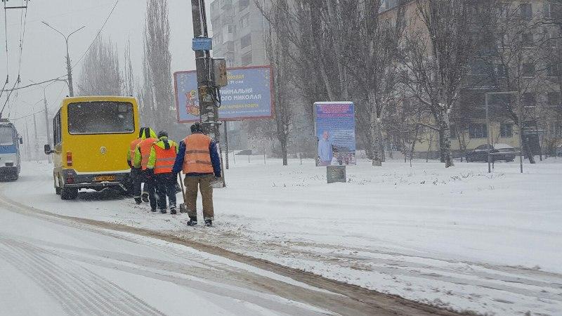Снегопад в Николаеве. Беспристрастная видеофиксация