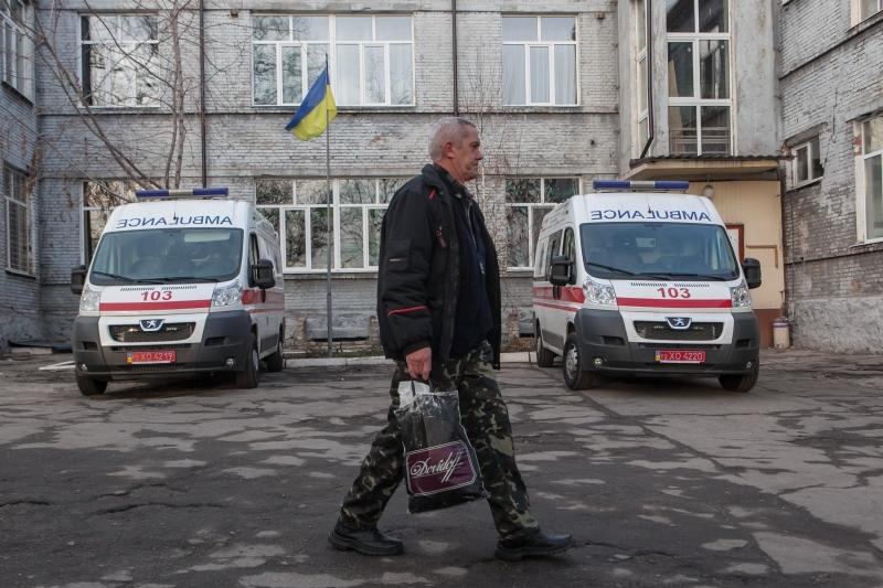 За сутки в Днепропетровский госпиталь доставили 26 украинских военных