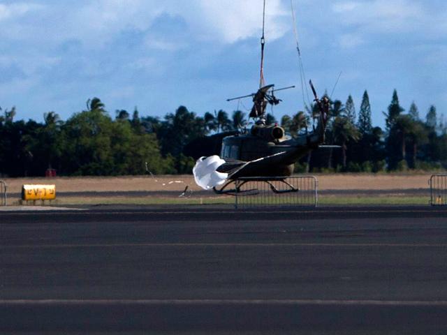 Два американских военных вертолета столкнулись в небе у Гавайских островов