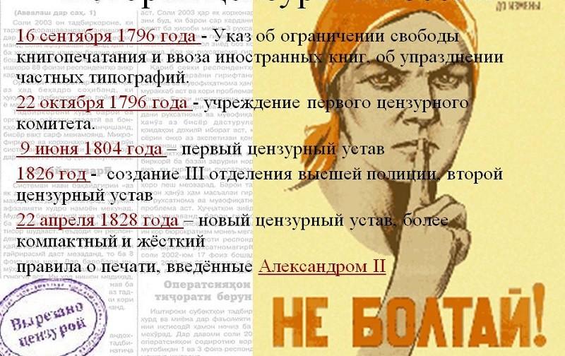 От цензуры до свободы слова. Опыт Николаева