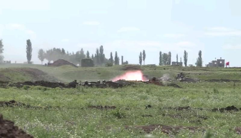 Взрыв миномета на Широком лане. На полигоне использовались мины 1975 г. и детонатор 1960 г. выпуска