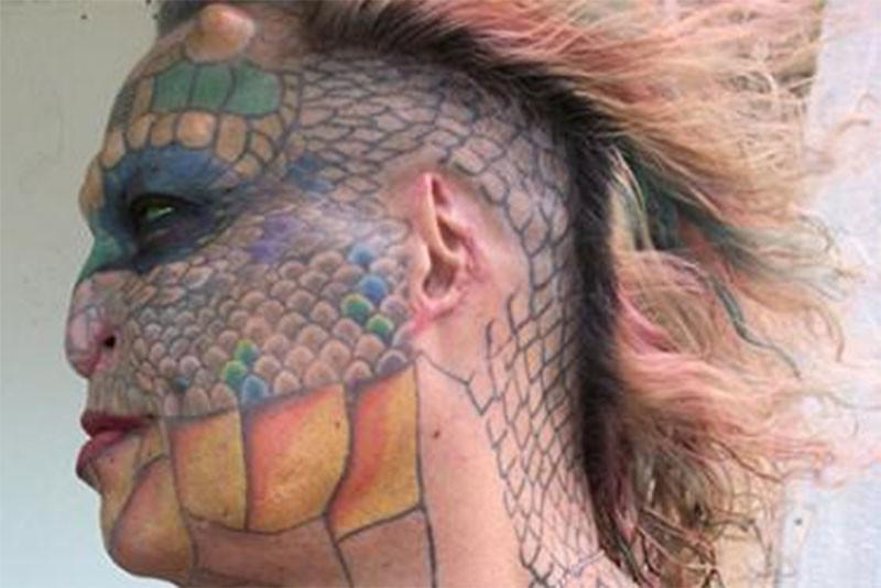 Американка сделала несколько косметических операций, чтобы перевоплотиться в дракона