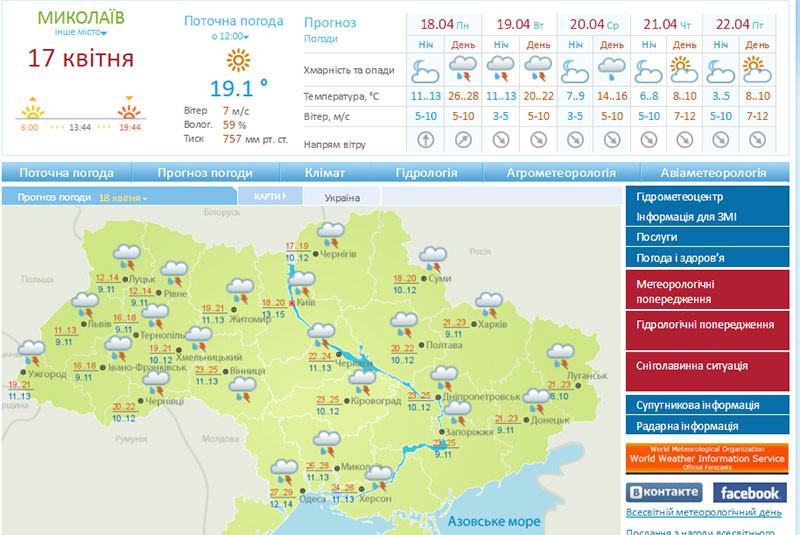 На следующей неделе в Украину придут дожди и похолодание