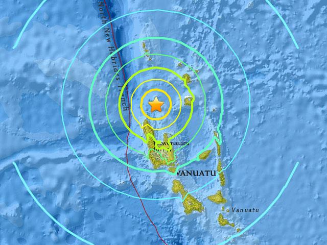 Землетрясение магнитудой 7,2 у берегов Вануату, возможно цунами