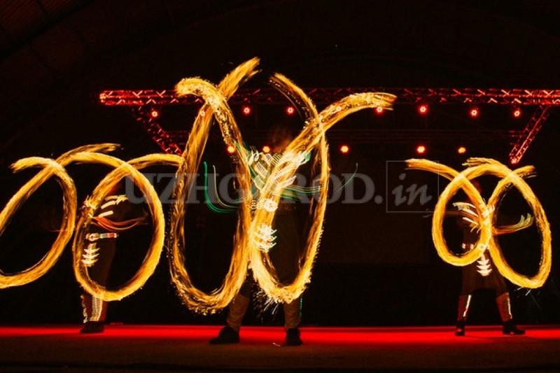 В Ужгороде прошел международный фестиваль огня