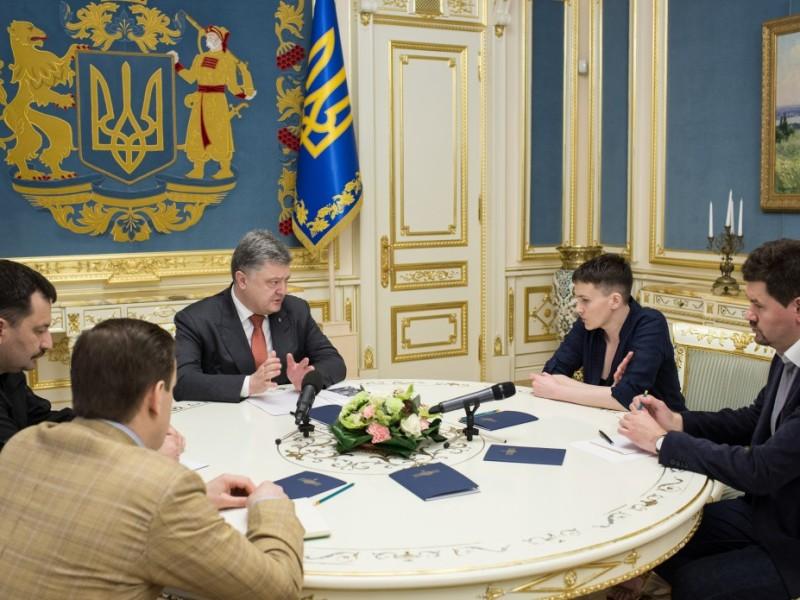 Президент обсудил с Савченко ее дальнейшую работу