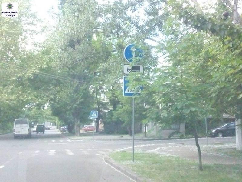 Будет обрезание? Патрульная полиция Николаева говорит, что кроны деревьев мешают видимости дорожных знаков