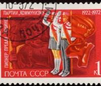 Soviet_Union-1972-Stamp-0.01._50_Years_of_Pioneers_Organization