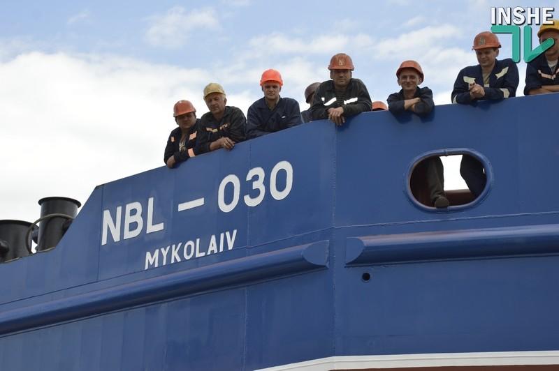 Судостроительный завод «НИБУЛОН» спустил на воду второе судно для перевозки грузов по Южному Бугу