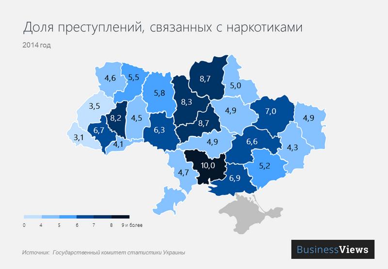 Николаевщина на криминальной карте Украины: по наркотикам на первом месте