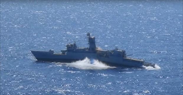 Турецкие войска на учениях потопили американский эсминец