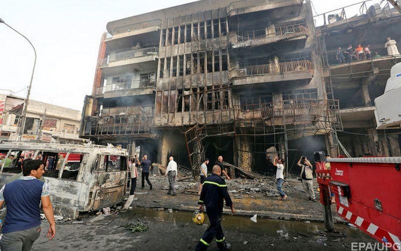 Руины после терактов в Багдаде с высоты птичьего полета