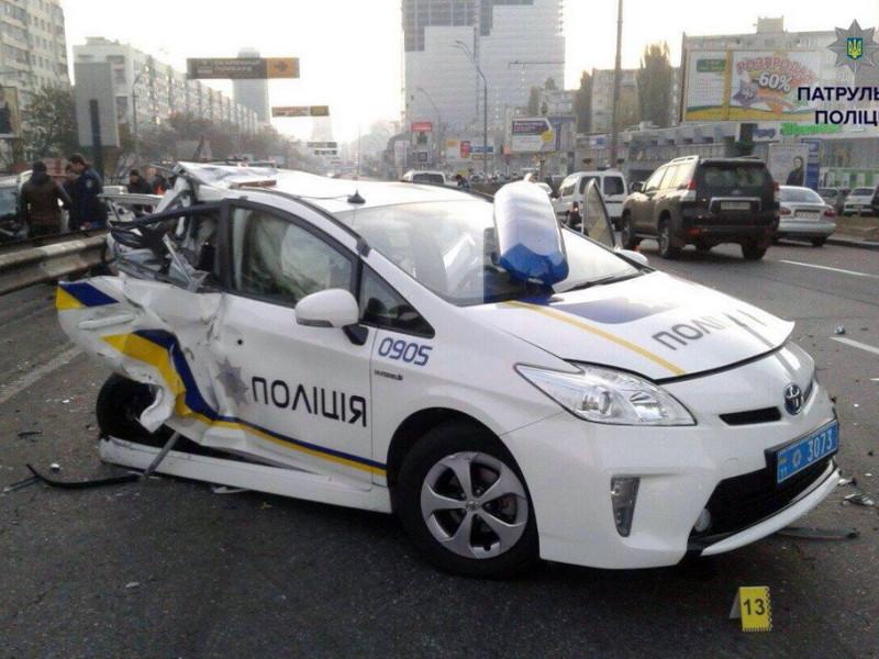 35 ДТП с участием полицейских произошло в Николаевской области
